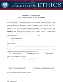 Gift Disclosure Waiver Request - U.s. House Of Representatives