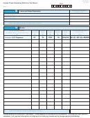 Form Dr-601cs - Schedules B,c,d,e