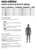 Adidas Men's And Women's Pants And Shorts Size Chart