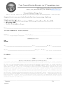 Personal Address Change - The Ohio State Board Of Cosmetology Form
