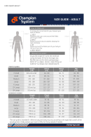 Champion System - Size Chart For Adults And Children
