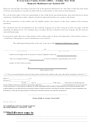 Divorce Form - St. Lawrence County Clerk's Office - Canton, New York