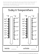 Today's Temperature Chart