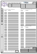 Deck Registration Sheet
