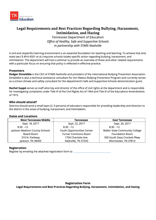 bullying and harassment policy template - registration form legal requirements and best practices