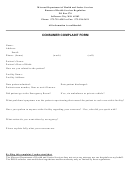Consumer Complaint Form - Missouri Department Of Health And Senior Services