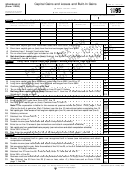 Schedule D (form 1120s) - Capital Gains And Losses And Built-in Gains - 1995