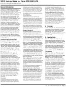 Instructions For Form Ftb 3801-cr - Passive Activity Credit Limitations - 2013