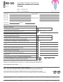 Form Rd-103 - Business License Application Flat Rate
