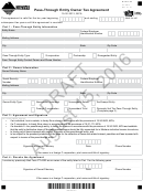 Montana Form Pt-agr Draft - Pass-through Entity Owner Tax Agreement