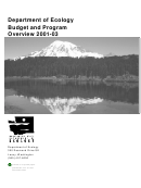 Department Of Ecology Budget And Program Overview 2001-03