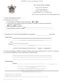 Form 103-r-e - Usawc Transcript Request Form - Us Army War College
