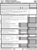 Form 100s - California S Corporation Franchise Or Income Tax Return - 2011