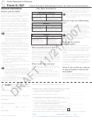 Form Il-941 Draft - Illinois Quarterly Withholding Income Tax Return And Instructions - 2007