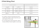 Z-pole Sizing Chart