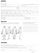 Body Pain Location Chart With Symptoms Questionnaire