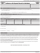 Form 8455 - California E-file Payment Record For Individuals - 2011