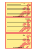 Red Curves Recipe Card Template