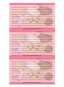 Pink Cookies Recipe Card Template