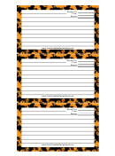 Orange Recipe Card Template