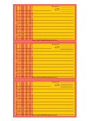 Red Lines Recipe Card Template