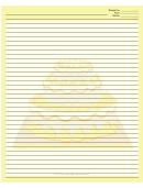 Yellow Tiered Cake Recipe Card 8x10