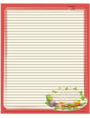 Orange Vegetables Recipe Card 8x10