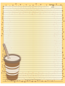 Yellow Paper Cup Recipe Card 8x10