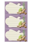 Ginger Purple Recipe Card Template