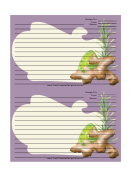 Ginger Purple Recipe Card 4x6
