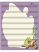 Ginger Purple Recipe Card 8x10