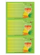 Green Banana Drink Recipe Card Template