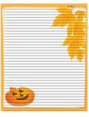 Orange Jack-o-lanterns Recipe Card 8x10