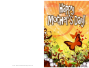 Butterflies Mothers Day Card