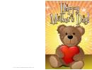 Teddy Bear Mothers Day Card