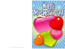 Colorful Hearts Mothers Day Card