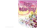 Purple Swirls Mothers Day Card