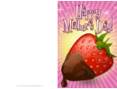 Strawberry In Chocolate Mothers Day Card