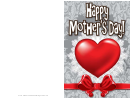 Heart And Ribbon Mothers Day Card