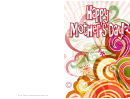 Colorful Swirls Mothers Day Card