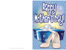 Blue Box White Shoes Mothers Day Card