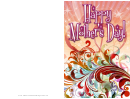 Red Swirls Mothers Day Card