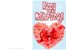Heart And Roses Mothers Day Card
