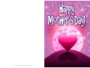 Heart In The Moonlight Mothers Day Card