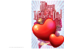Sparkling Hearts Mothers Day Card