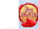 Pair Of Hearts Mothers Day Card