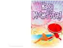 Beach Umbrella Mothers Day Card