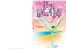 Martini On The Beach Mothers Day Card