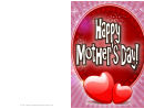 Two Hearts Mothers Day Card
