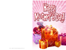 Pile Of Gifts Mothers Day Card